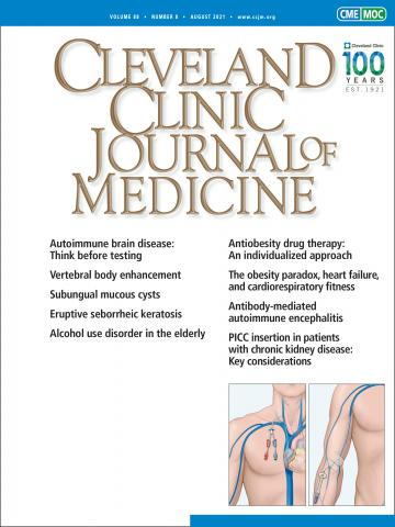 Cleveland Clinic Journal of Medicine: 88 (8)