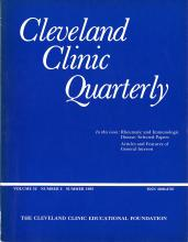 Cleveland Clinic Journal of Medicine: 52 (2)
