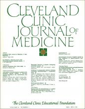 Cleveland Clinic Journal of Medicine: 54 (1)