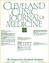 Cleveland Clinic Journal of Medicine: 54 (2)
