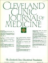 Cleveland Clinic Journal of Medicine: 54 (3)
