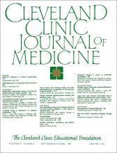 Cleveland Clinic Journal of Medicine: 54 (5)