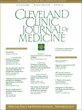 Cleveland Clinic Journal of Medicine: 56 (1)