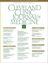 Cleveland Clinic Journal of Medicine: 56 (3)