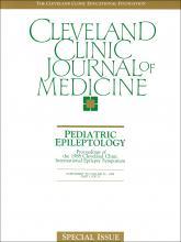 Cleveland Clinic Journal of Medicine: 56 (6 suppl part 1)