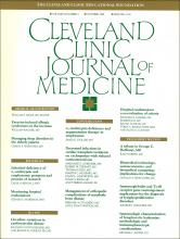 Cleveland Clinic Journal of Medicine: 56 (7)