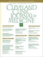Cleveland Clinic Journal of Medicine: 56 (8)