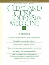 Cleveland Clinic Journal of Medicine: 57 (3)