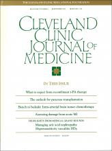 Cleveland Clinic Journal of Medicine: 57 (6)