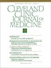 Cleveland Clinic Journal of Medicine: 58 (3)