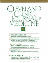 Cleveland Clinic Journal of Medicine: 58 (4)