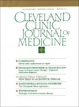 Cleveland Clinic Journal of Medicine: 58 (5)