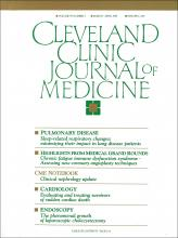 Cleveland Clinic Journal of Medicine: 59 (2)