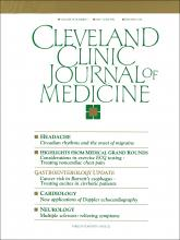 Cleveland Clinic Journal of Medicine: 59 (3)
