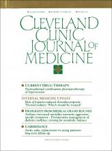 Cleveland Clinic Journal of Medicine: 59 (5)