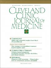 Cleveland Clinic Journal of Medicine: 59 (6)