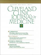 Cleveland Clinic Journal of Medicine: 60 (1)