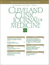 Cleveland Clinic Journal of Medicine: 60 (2)