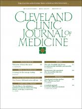 Cleveland Clinic Journal of Medicine: 60 (3)