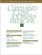 Cleveland Clinic Journal of Medicine: 60 (4)