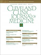 Cleveland Clinic Journal of Medicine: 60 (5)