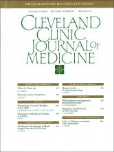 Cleveland Clinic Journal of Medicine: 60 (6)