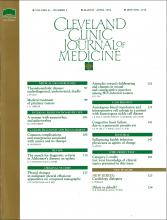 Cleveland Clinic Journal of Medicine: 61 (2)
