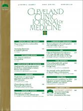 Cleveland Clinic Journal of Medicine: 61 (3)