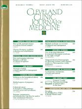 Cleveland Clinic Journal of Medicine: 61 (4)