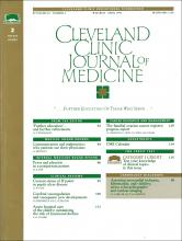 Cleveland Clinic Journal of Medicine: 62 (2)