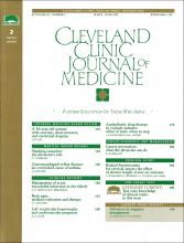 Cleveland Clinic Journal of Medicine: 62 (3)