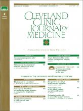 Cleveland Clinic Journal of Medicine: 62 (6)