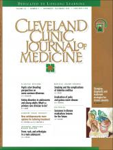 Cleveland Clinic Journal of Medicine: 63 (7)