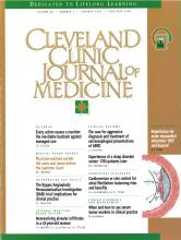 Cleveland Clinic Journal of Medicine: 64 (1)