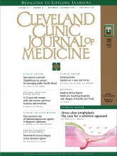 Cleveland Clinic Journal of Medicine: 64 (10)