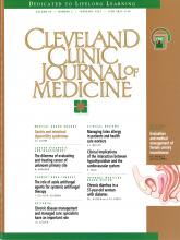 Cleveland Clinic Journal of Medicine: 64 (2)