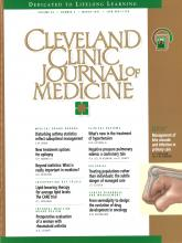 Cleveland Clinic Journal of Medicine: 64 (3)