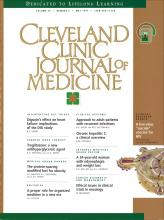 Cleveland Clinic Journal of Medicine: 64 (5)