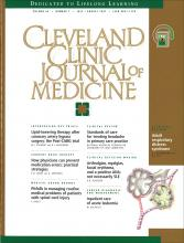 Cleveland Clinic Journal of Medicine: 64 (7)