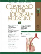 Cleveland Clinic Journal of Medicine: 64 (8)