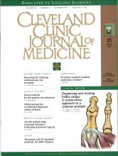 Cleveland Clinic Journal of Medicine: 64 (9)