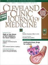 Cleveland Clinic Journal of Medicine: 65 (10)
