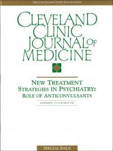 Cleveland Clinic Journal of Medicine: 65 (10 suppl 1)