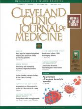 Cleveland Clinic Journal of Medicine: 65 (2)