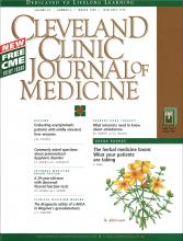 Cleveland Clinic Journal of Medicine: 65 (3)