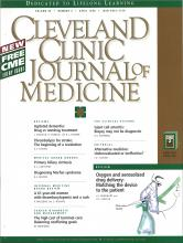 Cleveland Clinic Journal of Medicine: 65 (4)