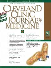 Cleveland Clinic Journal of Medicine: 65 (5)