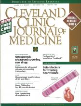 Cleveland Clinic Journal of Medicine: 65 (8)