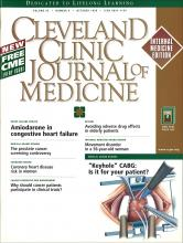Cleveland Clinic Journal of Medicine: 65 (9)