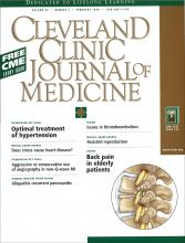 Cleveland Clinic Journal of Medicine: 66 (2)